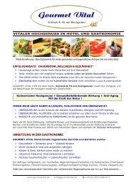 umsetzung in der gastronomie - Gourmet Vital by Werner Langbauer