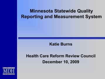 Title of slide show - Minnesota Department of Health