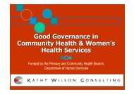 Good Governance - Department of Health
