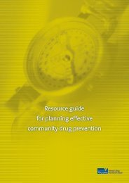 Resource guide for planning effective community drug prevention