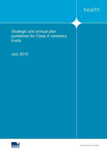 Strategic and Annual Plan Guidelines - Department of Health