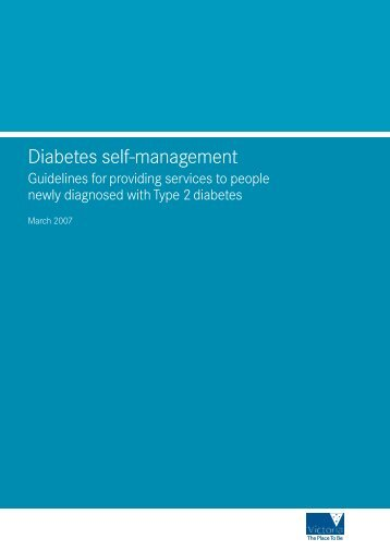 Diabetes self-management - Guidelines for providing services to ...