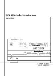 AVR 5500Audio/VideoReceiver - Hci-services.com