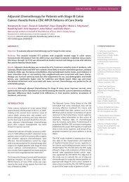 MOSAIC: Adjuvant FOLFOX in stage II, III CRC