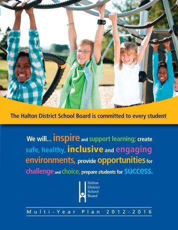 Multi-Year Plan - Halton District School Board