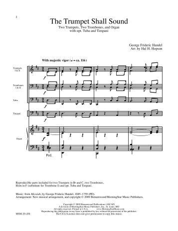 handel trumpet shall sound pdf