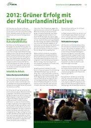 2012: Grüner Erfolg mit der Kulturlandinitiative - Grüne Kanton Zürich