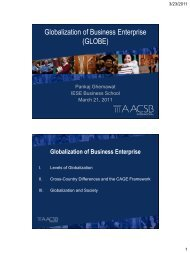 Globalization of Business Enterprise - Harvard Business School