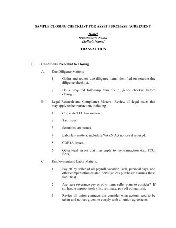 Order re petition no 24 approving the asset purchase agreement sample closing checklist for asset purchase agreement platinumwayz