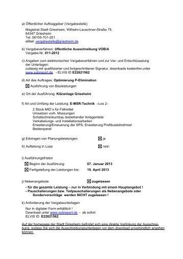 Bekanntmachungstext gem - Stadt Griesheim