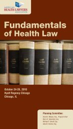 Fundamentals - The American Health Lawyers Association