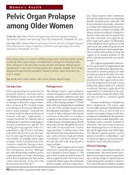 Pelvic Organ Prolapse among Older Women - HealthPlexus.net