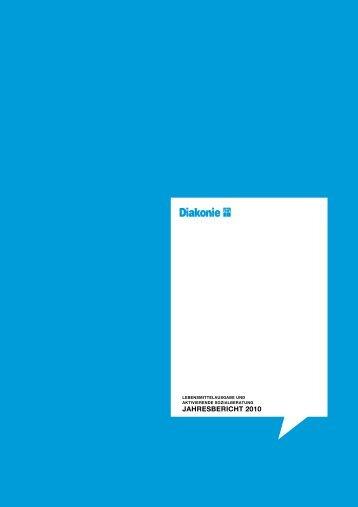 Jahresbericht Diakonie Tafeln / Lebensmittel- ausgaben