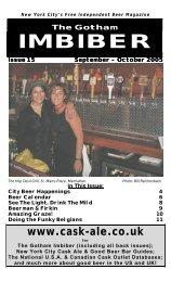 issue 15 - september / october 2005 - The Gotham Imbiber
