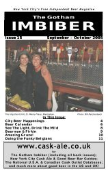 issue 15 - september / october 2005 - The Gotham Imbiber