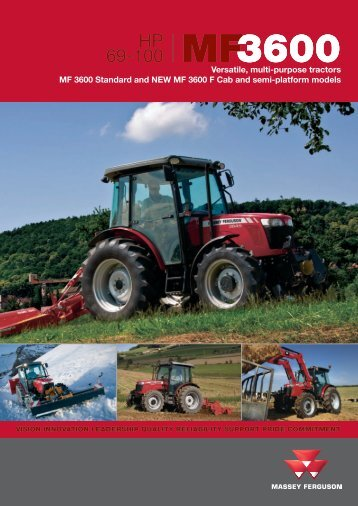 view the catalog MF3600 Series tractor