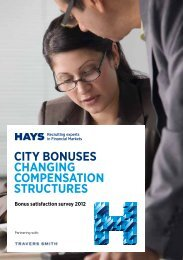 CITY BONUSES CHANGING COMPENSATION STRUCTURES - Hays