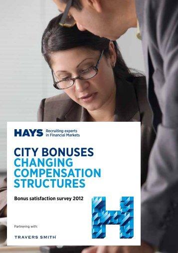 CITY BONUSES CHANGING COMPENSATION STRUCTURES - Hays
