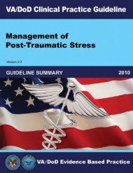 Guideline Summary - VA/DoD Clinical Practice Guidelines Home