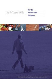 Self-Care Skills for the Person with Diabetes Booklet 5.50
