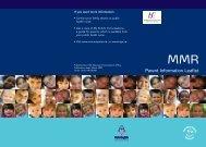 36721 MMR Leaflet - Health Promotion Unit