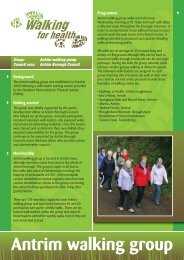 Antrim walking group - Health Promotion Agency