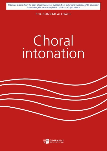 Choral Intonation - Gehrmans Musikförlag