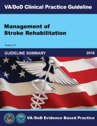 Stroke Summary (2010) - VA/DoD Clinical Practice Guidelines Home