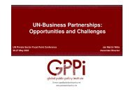UN-Business Partnerships: Opportunities and Challenges