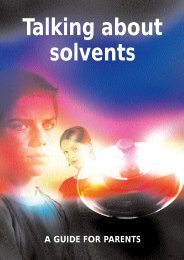 Talking about solvents - Health Promotion Agency
