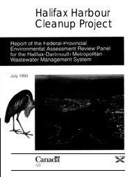 Halifax Harbour Cleanup Inc. - Halifax Regional Municipality