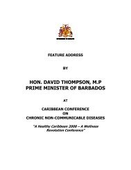 hon. david thompson, mp prime minister of barbados - The Healthy ...