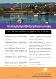 Professional Development Conference for Practice Managers