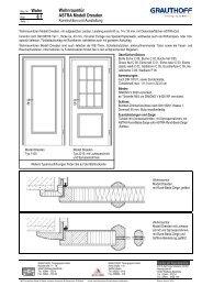 8.1 Wohnraumtür ASTRA Modell Dresden - Grauthoff