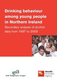Drinking behaviour among young people in Northern Ireland