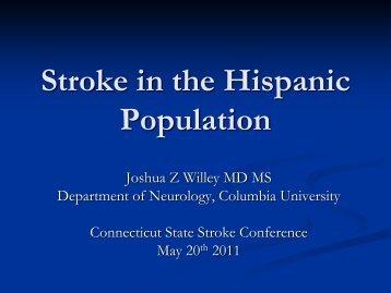 Stroke in the Hispanic Population - American Heart Association