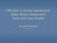 EMS Role in Stroke Assessment - American Heart Association
