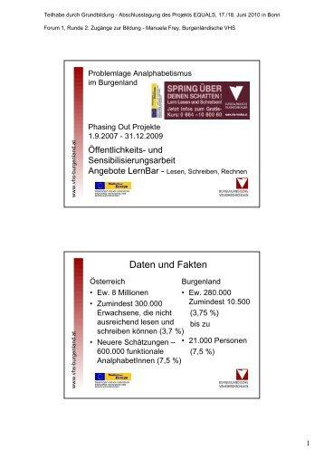 Daten und Fakten - Grundbildung.de