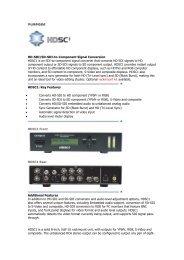 HD-SDI/SD-SDI-to-Component Signal Conversion ... - Hannu Pro
