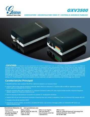 GXV3500 - Grandstream Networks