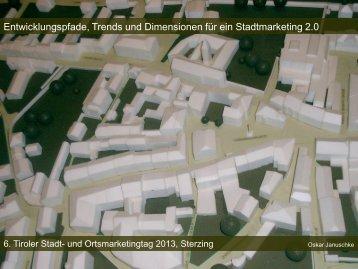 Entwicklungspfade, Trends und Dimensionen für ein Stadtmarketing ...