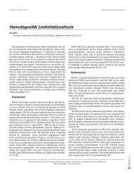 Hemofagositik Lenfohistiyositozis - Güncel Pediatri Dergisi