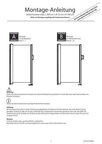 montage variante hecht international. Black Bedroom Furniture Sets. Home Design Ideas