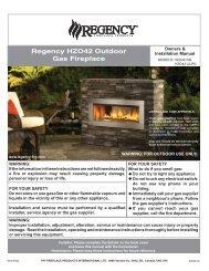 Regency HZO42 Outdoor Gas Fireplace - Regency Fireplace Products