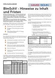 BImSchV - Hinweise zu Inhalt und Fristen - Haas + Sohn
