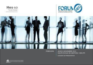heg-forum-2012-dossie+ - Haute école de gestion - Fribourg