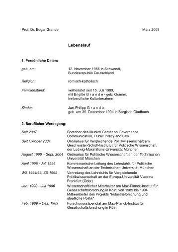 ausfhrlicher lebenslaufcurriculum vitae in detail pdf 40kb - Ausformulierter Lebenslauf Muster