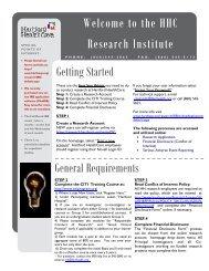 Research Getting Started Newsletter - Hartford Hospital!
