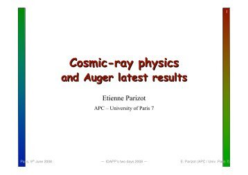 Cosmic ray physics and AUGER latest results