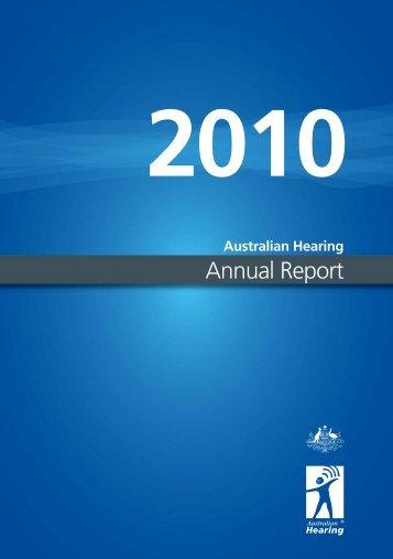 AH Annual Report 2010.indd - Australian Hearing